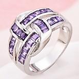 Муж. Жен. Обручальное кольцо Кольцо на кончик пальца Цирконий Циркон Медь Геометрической формы Бижутерия Назначение Свадьба Для вечеринок