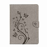 Case For iPad 10.5 iPad (2017) Flowers Card Holder Wallet with Stand Flip Magnetic Embossed Pattern Full Body Butterfly Flower Hard PU