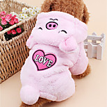 Dog Costume Dog Clothes Casual/Daily Cartoon Blushing Pink