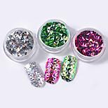 Colorful Sequins Shell Colorful Nail Art Decoration 6pcs/set
