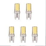 5pcs 2W G9 LED Bi-pin Lights 1 leds COB Warm White Cold White 1lm 6500/3500K AC 220-240V