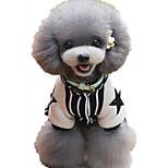 Собака Комбинезоны Одежда для собак На каждый день Полоски Черный Темно-синий Красный