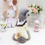 Собака Толстовка Одежда для собак новый Мультфильмы Желтый Розовый Костюм Для домашних животных