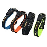 Dog Collar Reflective Solid Nylon