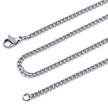 Men's Women's Chain Necklaces Stainless Steel Vintage Hip-Hop Jewelry For Gift Evening Party