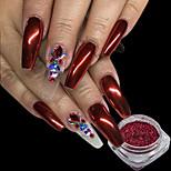 0.15g / pcs noël rouge ongles paillettes poudre brillant effet de nail art