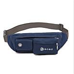 para la cubierta del caso que lleva la correa de cintura cinturón bolso de la bolsa bolsa de color sólido nylon suave para otro universal