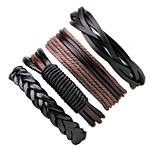 Men's Women's Leather Bracelet Wrap Bracelet Bohemian Adjustable Leather PU Round Jewelry For Casual Going out