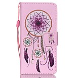 Case For Apple Ipod Touch5 / 6 Case Cover Card Holder Wallet with Stand Flip Pattern Full Body Case  Pink Bells Hard PU Leather