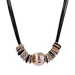 Women's Choker Necklaces Acrylic Circle Tube Alloy Statement Jewelry Elegant Jewelry For Party Evening Party