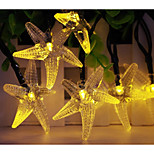 Solar Powered  LED String Light Starfish Shape 0.5W 10LM 2V 5M 20LEDS Multi Color/Warm White/White