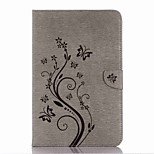 Embossed Pattern Card Holder with Stand Magnetic PU Wallet Leather Case Card Bag with Pattern for Samsung Galaxy Tab A P580 10.1 inch Tablet PC
