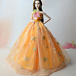 Dresses Dresses For Barbie Doll Orange Dresses For Girl's Doll Toy