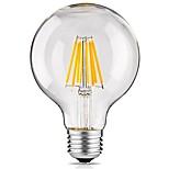 1 Pça. 8W E27 Lâmpadas de Filamento de LED G95 8 leds COB Decorativa Branco Quente 700lm 2300-2700K AC 220-240V