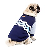 Dog HTC One X G23 S720e Sweatshirt Dog Clothes Casual/Daily Keep Warm New Year's Color Block Blushing Pink Dark Blue