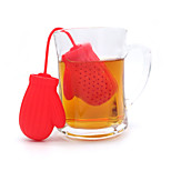 1Pc Red Glove  1 Ml  Silicone Tea Strainer  Texture Tea Infuser