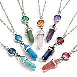 Men's Women's Pendant Necklaces Geometric Natural Stone Alloy Simple Jewelry For Daily