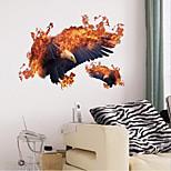 Недорогие -Животные Наклейки Простые наклейки Декоративные наклейки на стены, пластик Украшение дома Наклейка на стену Стена