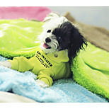 Dog Bed Pet Blankets Polka Dot Green Yellow
