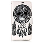 For Case Cover Card Holder Wallet with Stand Flip Pattern Full Body Case Skull Dream Catcher Hard PU Leather for Motorola Moto G5 Plus