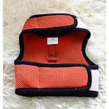 Собака Ремни Компактность Однотонный Ткань Оранжевый