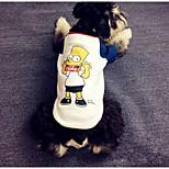Собака Футболка Одежда для собак На каждый день Носки детские Белый