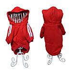 Dog Hoodie Sweatshirt Dog Clothes Warm Casual/Daily Sports Solid Black Red Costume For Pets