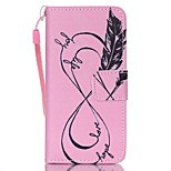 Case For Apple Ipod Touch5 / 6 Case Cover Card Holder Wallet with Stand Flip Pattern Full Body Case  Pink 8 Words Hard PU Leather