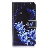 Кейс для Назначение Huawei Y5 III(Y5 2017) P8 Lite Бумажник для карт Кошелек со стендом Флип Чехол Бабочка Цветы Твердый Искусственная