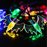 Solar Powered  LED String Light Bat Shape 0.5W 10LM 2V 6Meters 30LEDS Multi Color/Warm White/White