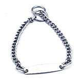 Dog Collar Portable Solid Stainless Steel Silver