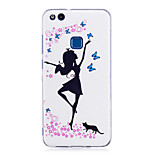 Case For P8 Lite (2017) P10 Lite Glow in the Dark IMD Pattern Back Cover Sexy Lady Soft TPU for Huawei P10 Lite Huawei P9 Lite Huawei P8