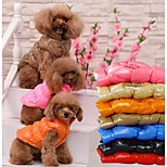 Cat Dog Vest Dog Clothes Cotton Spring/Fall Winter Casual/Daily Keep Warm Halloween Christmas Solid Black Brown Red Blue For Pets