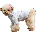 Dog Vest Dog Clothes Casual/Daily Solid Gray