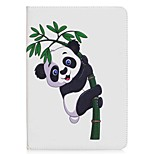 Panda and Bamboo Pattern Card Holder Wallet with Stand Flip Magnetic PU Leather Case for Samsung GALAXY Tab A 9.7 T550 T555 9.7 inch Tablet PC