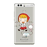 Case For Huawei P9 P10 Transparent Pattern Back Cover Transparent Sexy Lady Cartoon Soft TPU for Huawei P10 Plus Huawei P10 Lite Huawei