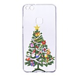Case For Huawei P10 Lite P10 Transparent Pattern Back Cover Christmas Tree Soft TPU for Huawei P10 Lite Huawei P10 Huawei P8 Lite (2017)