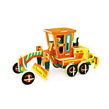 3D Puzzles Motor Grader Toys Excavating Machinery Vehicles Cartoon Design Kids 1 Pieces