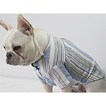 Cat Dog T-shirts Dog Clothes Casual/Daily Stripe Red Blue Costume For Pets