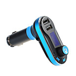 Hot voiture fm émetteur sans fil bluetooth musique mains-libres appel sans fil lecteur mp3 kit de voiture usb chargeur sd lcd 3 couleur