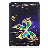 Butterfly Pattern Card Holder Wallet with Stand Flip Magnetic PU Leather Case for Samsung GALAXY Tab S2 8.0 T710 T715 8.0 inch Tablet PC