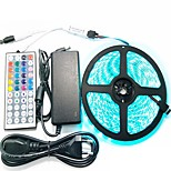Light Bar set 5M 5050 300 LED RGB Waterproof 44 key Remote Control 12V 6A Power Adapter
