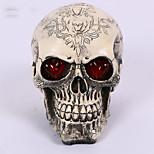 1pc Хэллоуин смолы череп дома побег ужасов реквизит дизайн дизайн случайный