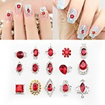 24 Nail Art Decoration Rhinestone Pearls Makeup Cosmetic Nail Art Design