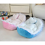 Dog Bed Pet Mats & Pads Polka Dot Blushing Pink Blue