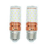 2pcs 12W E27 LED Corn Lights T 60 leds SMD 2835 Warm White White Dual Light Source Color 1000lm 3000-3500  6000-6500  3000-6500K AC