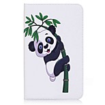 Panda and Bamboo Pattern Card Holder Wallet with Stand Flip Magnetic PU Leather Case for Samsung Galaxy Tab E 8.0 T377 T377V 8.0 inch Tablet PC