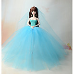Dresses Dresses For Barbie Doll Ocean Blue Dresses For Girl's Doll Toy
