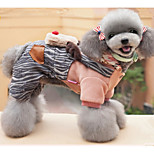 Dog Clothes/Jumpsuit Dog Clothes Christmas Reindeer Blushing Pink Green