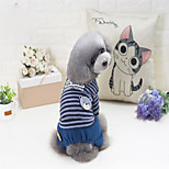 Dog Sweatshirt Dog Clothes Shaping Tops Stripe Gray Red Costume For Pets